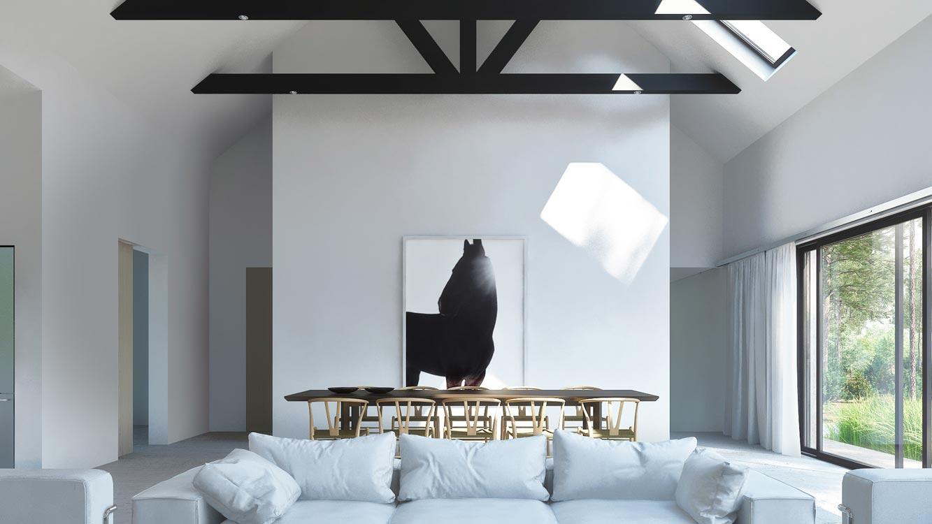 the modern hamptons barn. wolfgang ludes studio